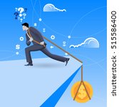 debt business concept.... | Shutterstock .eps vector #515586400