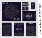 set of vector design for cover. ... | Shutterstock .eps vector #515587288