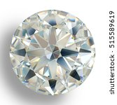 picture diamond jewel on white... | Shutterstock . vector #515589619