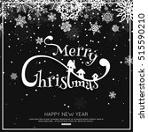 merry christmas congratulations ... | Shutterstock .eps vector #515590210