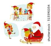 Elves Santa's Helpers Cartoon...