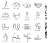 Spa Treatments Icons Set....