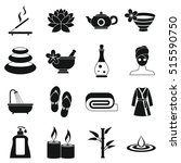 spa treatments icons set.... | Shutterstock .eps vector #515590750