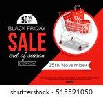black friday sale banner for... | Shutterstock .eps vector #515591050