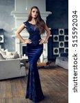 gorgeous tall slim glamorous...   Shutterstock . vector #515592034