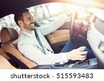 businessman driving a car. | Shutterstock . vector #515593483