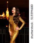 sexy fashionable beautiful... | Shutterstock . vector #515594680