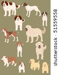 dogs vector set | Shutterstock .eps vector #51559558