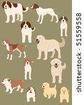 dogs vector set | Shutterstock .eps vector #51559558