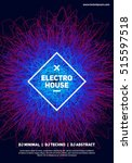 threads chaos poster. electro... | Shutterstock .eps vector #515597518