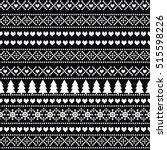 black and white seamless... | Shutterstock .eps vector #515598226