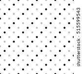 seamless monochrome polka dot... | Shutterstock . vector #515599543