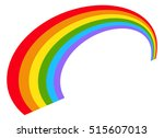 illustration with rainbow shape ... | Shutterstock .eps vector #515607013