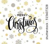 merry christmas gold glittering ... | Shutterstock .eps vector #515607328