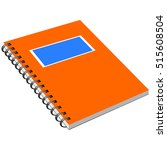 notebook with metal spiral | Shutterstock .eps vector #515608504