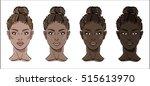 vector illustration of black... | Shutterstock .eps vector #515613970