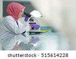 Muslim Lab Worker Doing An...