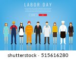 people of different occupations.... | Shutterstock .eps vector #515616280