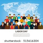 people of different occupations.... | Shutterstock .eps vector #515616304