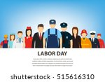 people of different occupations.... | Shutterstock .eps vector #515616310