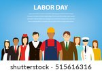 people of different occupations.... | Shutterstock .eps vector #515616316