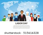 people of different occupations.... | Shutterstock .eps vector #515616328