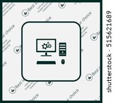 setting parameters  laptop icon ... | Shutterstock .eps vector #515621689