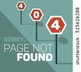 oops  error 404 web banner.... | Shutterstock .eps vector #515626288
