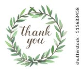 thank you greeting card.... | Shutterstock . vector #515633458