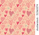 romantic seamless pattern in... | Shutterstock . vector #51563374