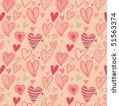 romantic seamless pattern in... | Shutterstock . vector #51563374