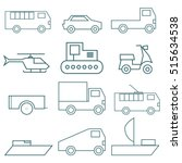 set of vector logos. types of... | Shutterstock .eps vector #515634538
