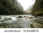 Long Exposure Of A Creek In A...