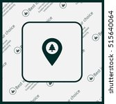 forest map pin icon  map... | Shutterstock .eps vector #515640064