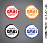 christmas delivery tag label set | Shutterstock .eps vector #515654230