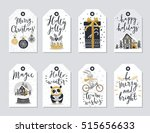 christmas tags set  hand drawn... | Shutterstock .eps vector #515656633
