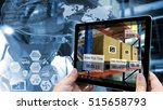 industry 4.0 augmented reality... | Shutterstock . vector #515658793