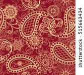 seamless pattern in ethnic... | Shutterstock .eps vector #515663434