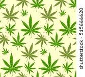 marijuana background vector... | Shutterstock .eps vector #515666620