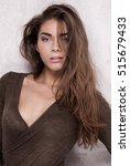 sexy fashion model girl posing...   Shutterstock . vector #515679433
