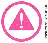 warning error rubber seal stamp ...
