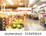 blurred image organic boxes of... | Shutterstock . vector #515693614