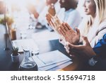 close up view of young business ... | Shutterstock . vector #515694718
