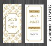 modern wedding invitation with...   Shutterstock .eps vector #515724580