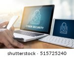 cyber security business ... | Shutterstock . vector #515725240