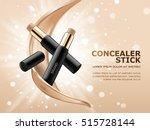 concealer stick ads  3d... | Shutterstock .eps vector #515728144