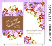 romantic invitation. wedding ... | Shutterstock . vector #515731630