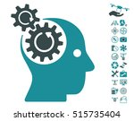 brain gears rotation icon with... | Shutterstock .eps vector #515735404