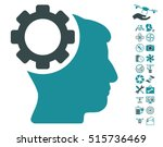 brain gear pictograph with... | Shutterstock .eps vector #515736469