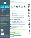 resume in flat style design on...   Shutterstock .eps vector #515745334